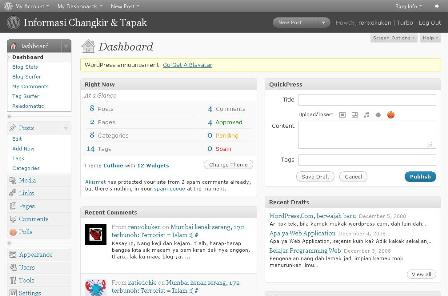Wordpress 2.7 new user interface. Simple dan chantik