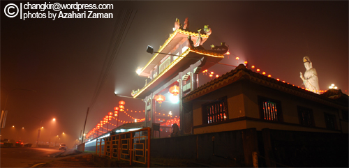 The Temple At Chinese New Year